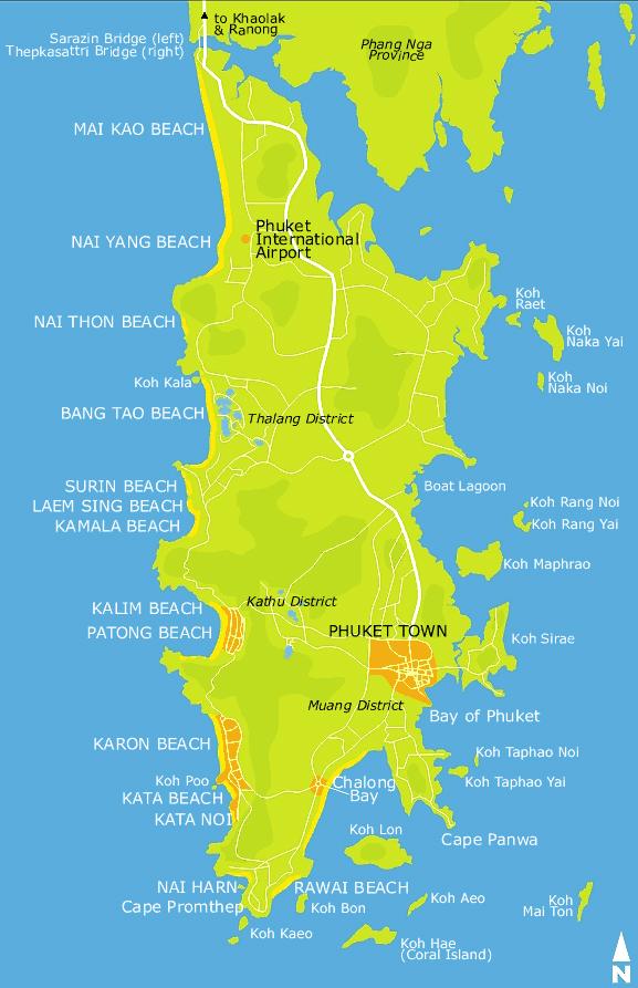 Discover Phuket map